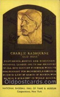 spo003883 - Charlie Radbourne Old Hoss Baseball Hall of Fame Card, Old Vintage Antique Postcard Post Card