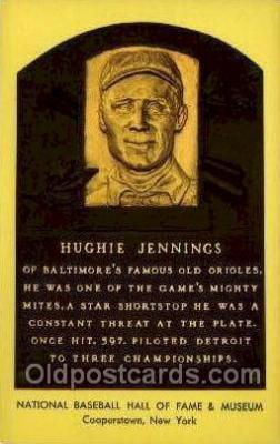 spo003889 - Hughie Jennings Baseball Hall of Fame Card, Old Vintage Antique Postcard Post Card