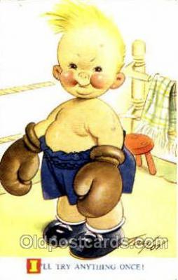 spo005678 - Taylor Tots, No. K142 Boxing Postcard Post Cards Old Vintage Antique Postcard