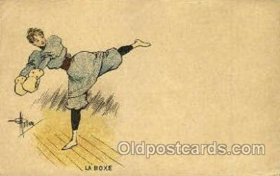 spo005694 - Le box Boxing Postcard Post Cards Old Vintage Antique Postcard