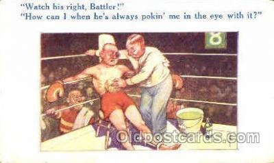 spo005695 - Bamforth Co., Mohegan Lake, N.Y., USA Boxing Postcard Post Cards Old Vintage Antique Postcard