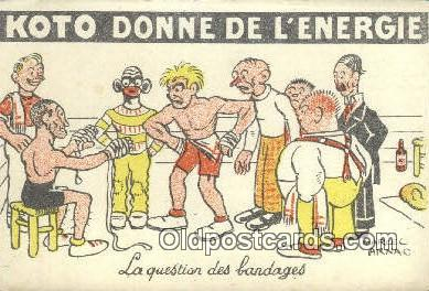 spo005871 - Boxing Postcard Post Card Old Vintage Antique