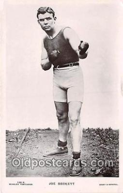 Joe Beckett Boxing Postcard Post Card