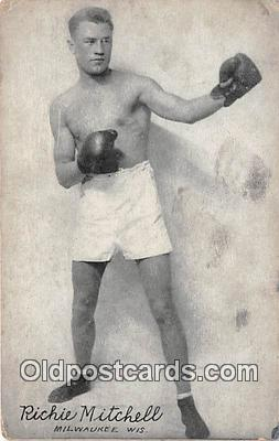 Richie Mitchell Boxing Postcard Post Card