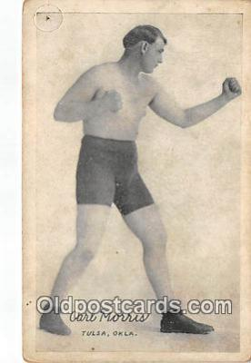 Carl Morris Boxing Postcard Post Card