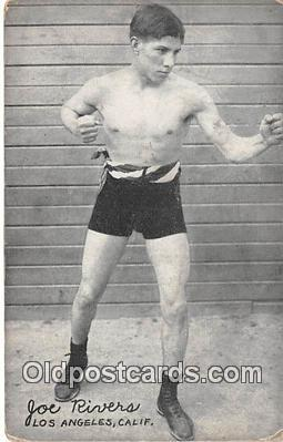 Joe Rivers Boxing Postcard Post Card