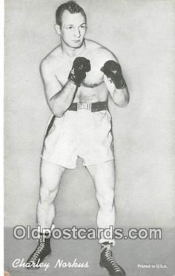 Charley Norkus Boxing Postcard Post Card