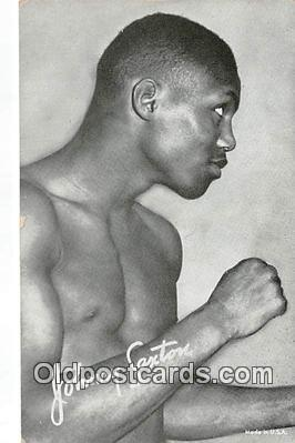 Johnny Saxton Boxing Postcard Post Card