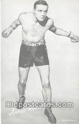 Anton Raadik Boxing Postcard Post Card