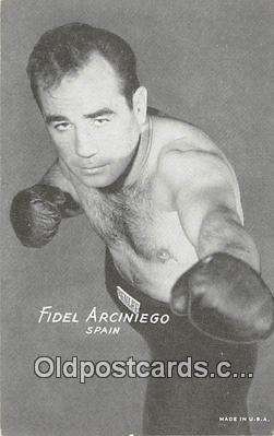 Fidel Arciniego Boxing Postcard Post Card