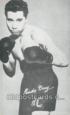 Rudy Cruz Boxing Postcard Post Card