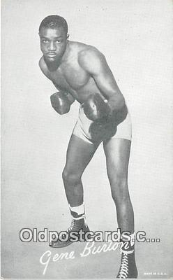 Gene Burton Boxing Postcard Post Card