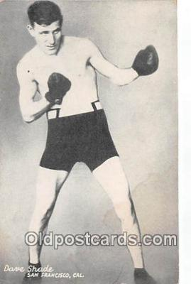 Dave Shade Boxing Postcard Post Card
