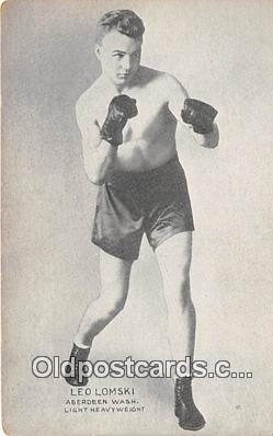Leo Lomski Boxing Postcard Post Card