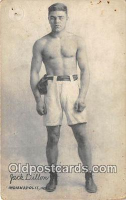 Jack Dillon Boxing Postcard Post Card