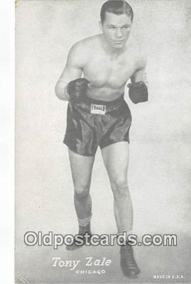 Tony Zale Boxing Postcard Post Card