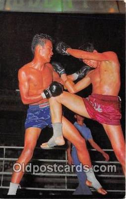 Thai Kick Boxing Boxing Postcard Post Card