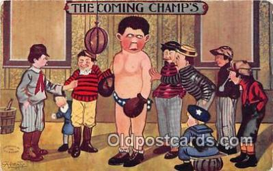 Artist A Beaty Boxing Postcard Post Card