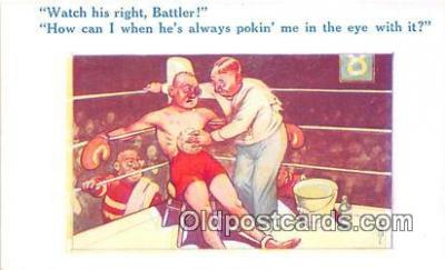 Boxing Postcard Post Card