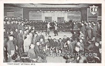 Fight Night Boxing Postcard Post Card