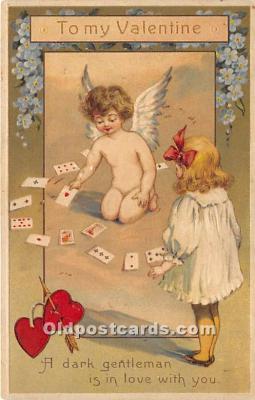 spo012550 - Old Vintage Gambling Postcard Post Card