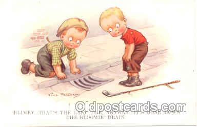spo013159 - Artist Vera Paterson, Golf Postcard Postcards