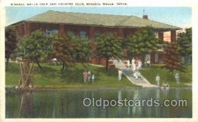 spo013321 - Mineral Wells Golf & Country Club Golf Postcard Postcards