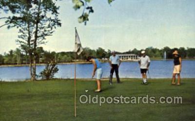 spo013379 - Oakdale Counrty Club Florance SC USA Golf Comic Old Vintage Antique Postcard Postcards