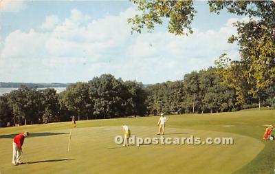 spo013602 - Old Vintage Golf Postcard Post Card