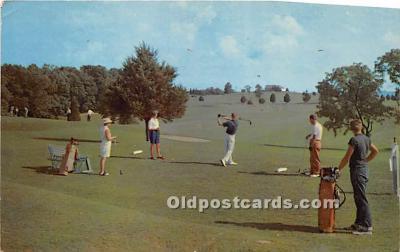 spo013753 - Old Vintage Golf Postcard Post Card