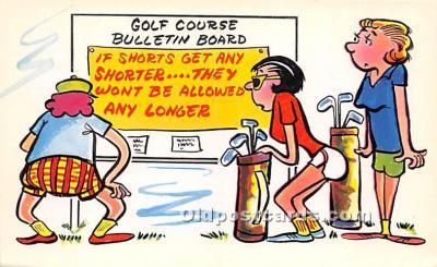 spo013804 - Old Vintage Golf Postcard Post Card