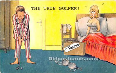 spo013820 - Old Vintage Golf Postcard Post Card