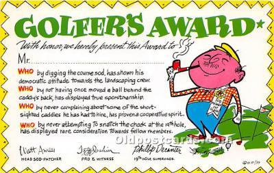 spo013827 - Old Vintage Golf Postcard Post Card