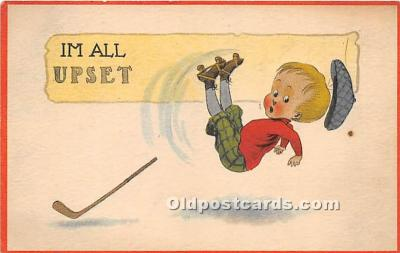 spo014094 - Old Vintage Hockey Postcard Post Card