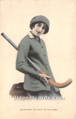 spo014111 - Old Vintage Hockey Postcard Post Card