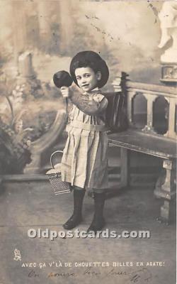 spo015034 - Old Vintage Marbles Postcard Post Card