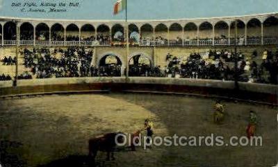 spo017231 - Bull Fight Bull Fighing, Bullfighting Postcard Postcards