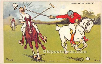 spo019068 - Old Vintage Polo Postcard Post Card