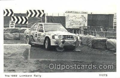 spo020219 - The 1989 Lombard Rally New card, 1989 postcard, Auto, Automotive, Car Racing Postcard Postcards