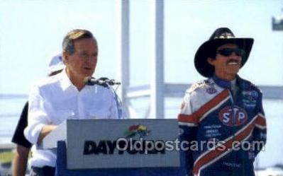 Richard Petty, George Bush