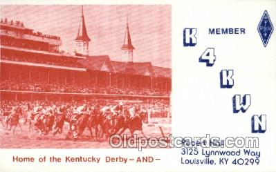 spo021582 - Louisville, KY USA Horse Racing Old Vintage Antique Postcard Post Cards