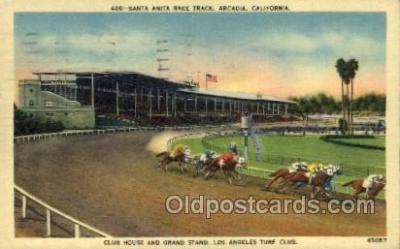 spo021613 - Santa Anita Park Arcadia, CA USA Horse Racing Old Vintage Antique Postcard Post Cards