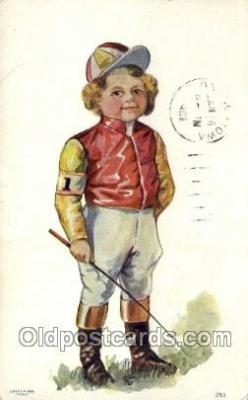 spo021618 - Horse Racing Old Vintage Antique Postcard Post Cards