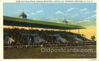 spo021633 - Henderson, KY USA Horse Racing Old Vintage Antique Postcard Post Cards