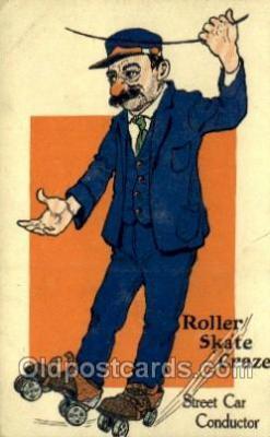 spo022086 - Roller Skating Old Vintage Antique Postcard Post Cards