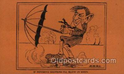spo022097 - Roller Skating Old Vintage Antique Postcard Post Cards