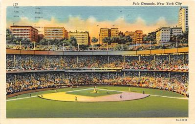 spo023119 - Polo Grounds, New York City, NY, USA Baseball Stadiums, Base Ball Stadium, Postcard Postcards