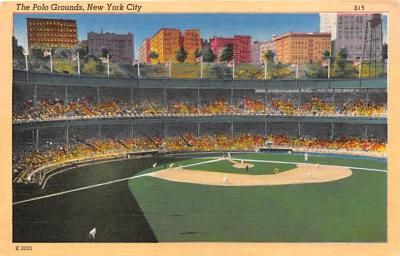spo023169 - Polo Grounds, New York City, Home of the NY Giants Baseball Team, Base Ball Stadium Postcard Postcards