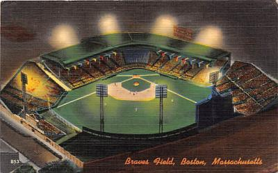 spo023183 - Braves Field, Boston Massachusetts, Baseball Team, Base Ball Stadium Postcard Postcards