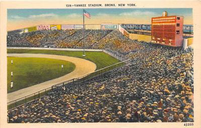 spo023246 - Yankess, New York City, USA Baseball Stadium Postcard Postcards